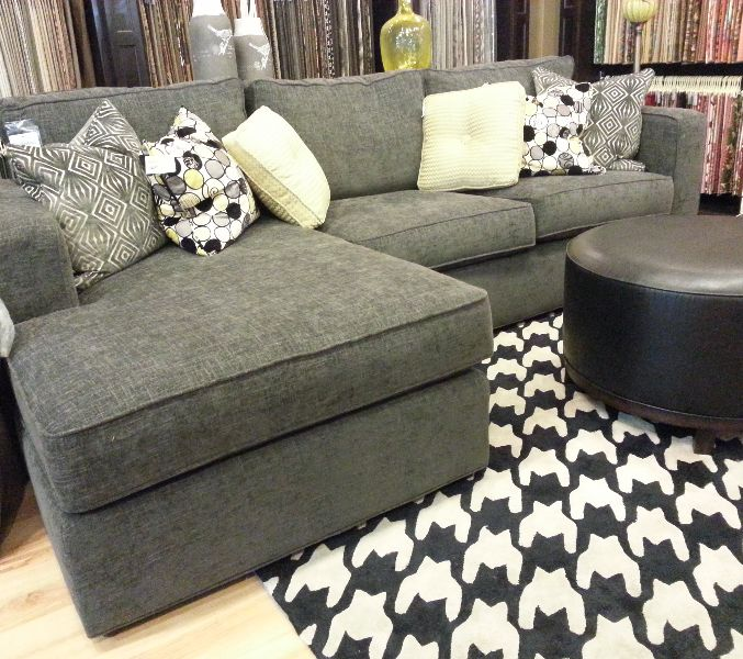 THIS RUG Pair A Chic Houndstooth Rug With Solid Color Sofa To Bring Fun And Glamorous Edge Your Living Room