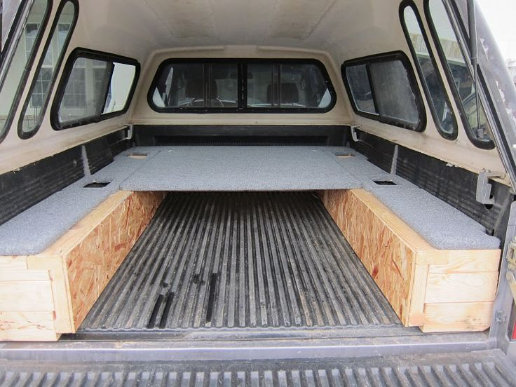Truck bed sleeping platform travel vehicles pinterest truck bed trucks and platform - Truck bed storage ideas ...