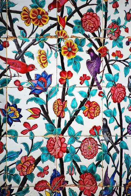 Iran, Shiraz - Handmade tiles can be colour coordinated and customized re. shape, texture, pattern, etc. by ceramic design studios