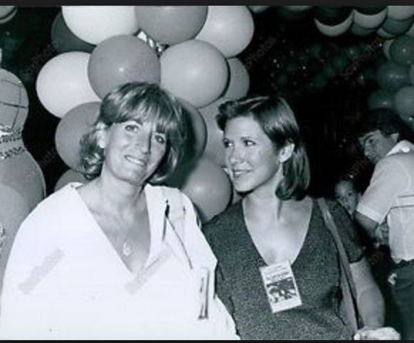 Penny Marshall and Carrie Fisher.