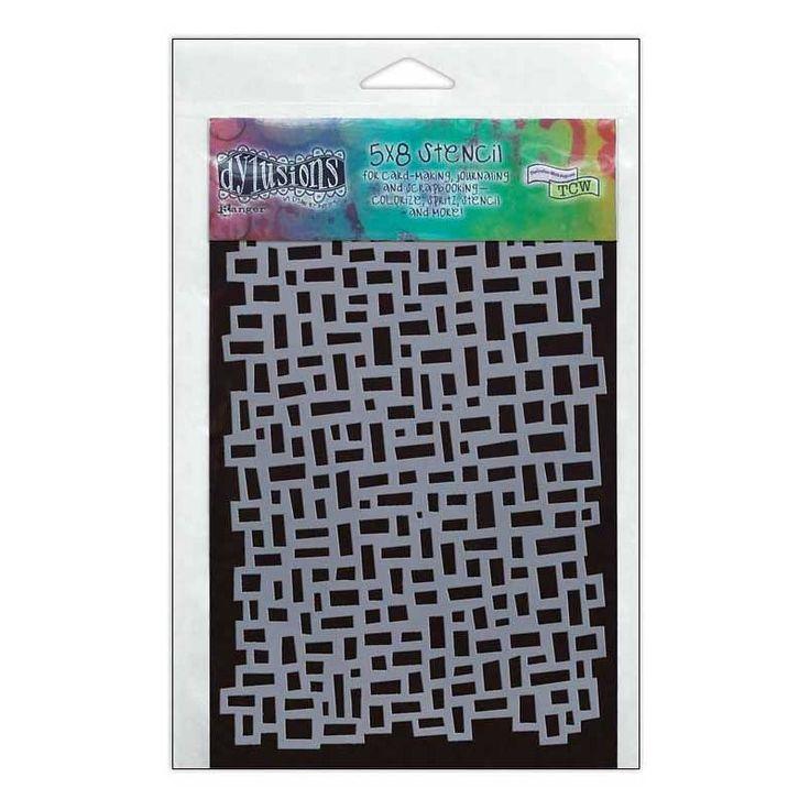 Dylusions 5 x 8 in. Stencil: Blocks - DYS40651