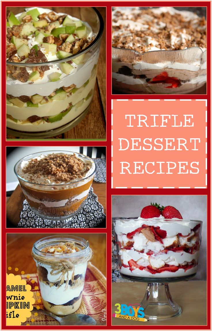 Check out the newest post (Trifle Dessert Recipes) on 3 Boys and a Dog at http://3boysandadog.com/2014/09/trifle-dessert-recipes/?Trifle+Dessert+Recipes