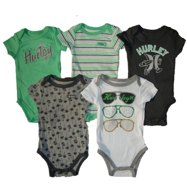 Hurley baby bodysuits! @Andrew Mager Mager Mager Mager Clements @Alicia T T T T Edwards