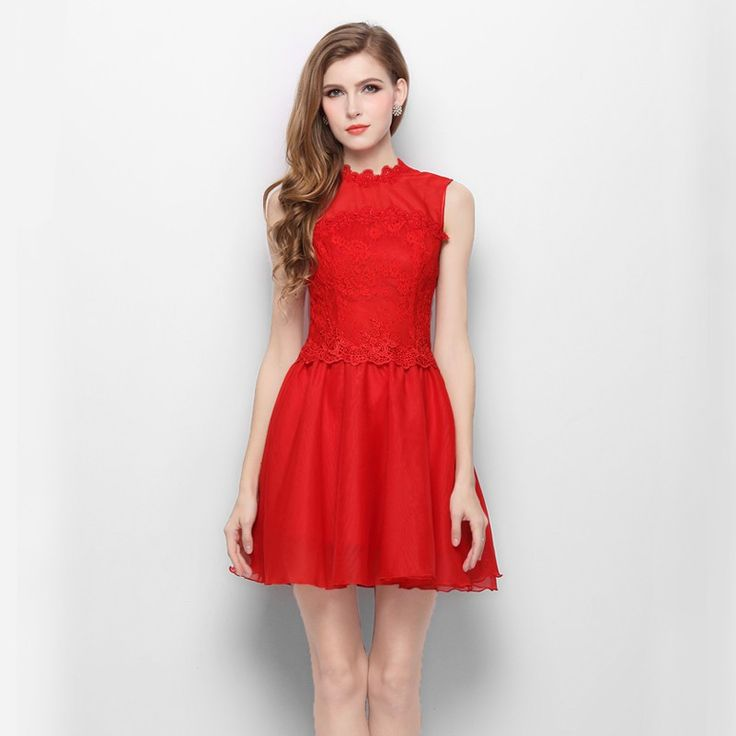 short-red-party-dress