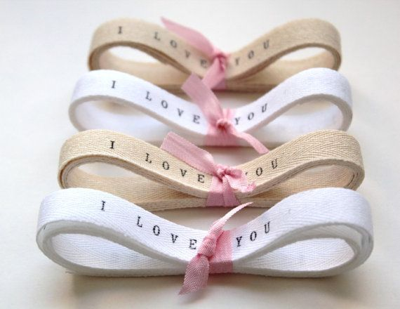 Twill Tape Twill Ribbon personalized ribbon i by TheLonelyHeart, $5.50