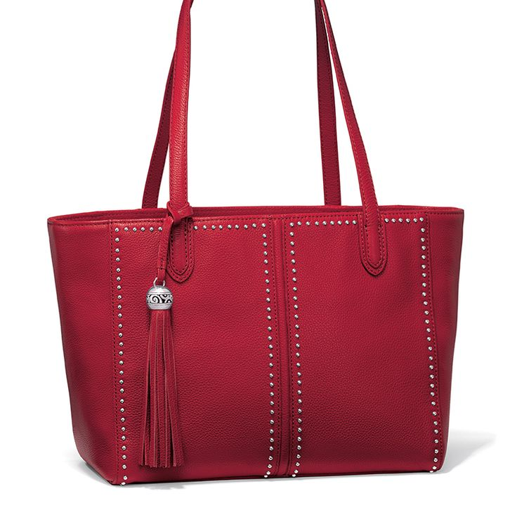 The Jax City Tote in daring lipstick red. #BrightonCollectibles