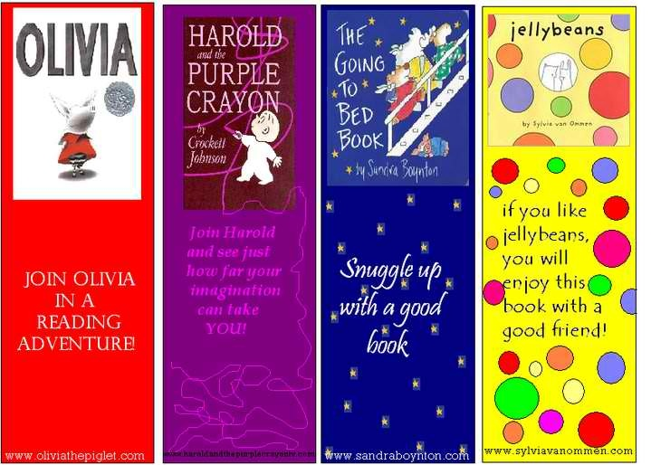 Bookmarks I created for a few of my favorite children