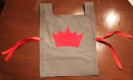 How to make a no-sew Knight Tunic for a medieval-themed kids party