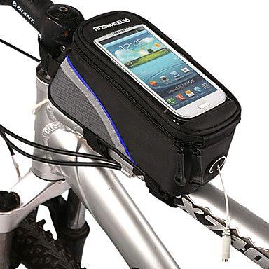 Bolsa para Quadro de Bicicleta / Bolsa Celular (Vermelho / Azul / Verde , Poliéster / PVC) - Á Prova-de-Água / Lista Reflectora Iphone 4/5/5S/5C  - BRL R$ 25,30