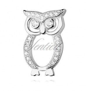 Srebrna zawieszka pr.925 Sowa z cyrkoniami - Biżuteria srebrna dla każdego tania w sklepie internetowym Rejel