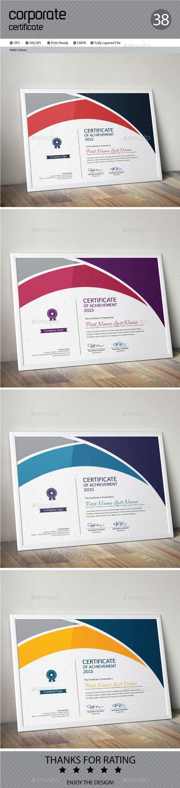 Certificate Template Vector EPS. Download here: http://graphicriver.net/item/certificate/13653275?ref=ksioks