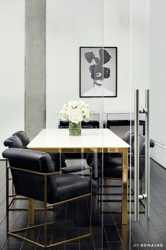office black. A Glass Conference Room With White And Gold Table Flowers Black Office I