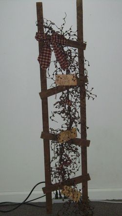 """Image detail for -Primitive country ladder 48"""" x 16"""" x1"""""""