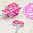 Add Glitter to  Your Phone Charger with Ribbon
