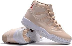 Nike Air Jordan XI 11 Retro Creamy White Maroon Men Shoes 378037-1163