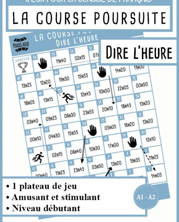 Jeu de plateau FLE/Français - Heure
