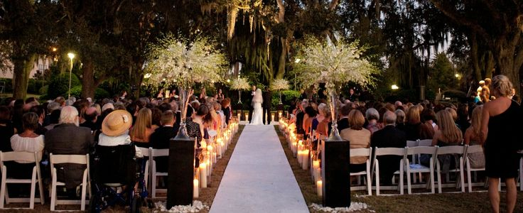 Wedding Ceremony In The Sculpture Garden At New Orleans