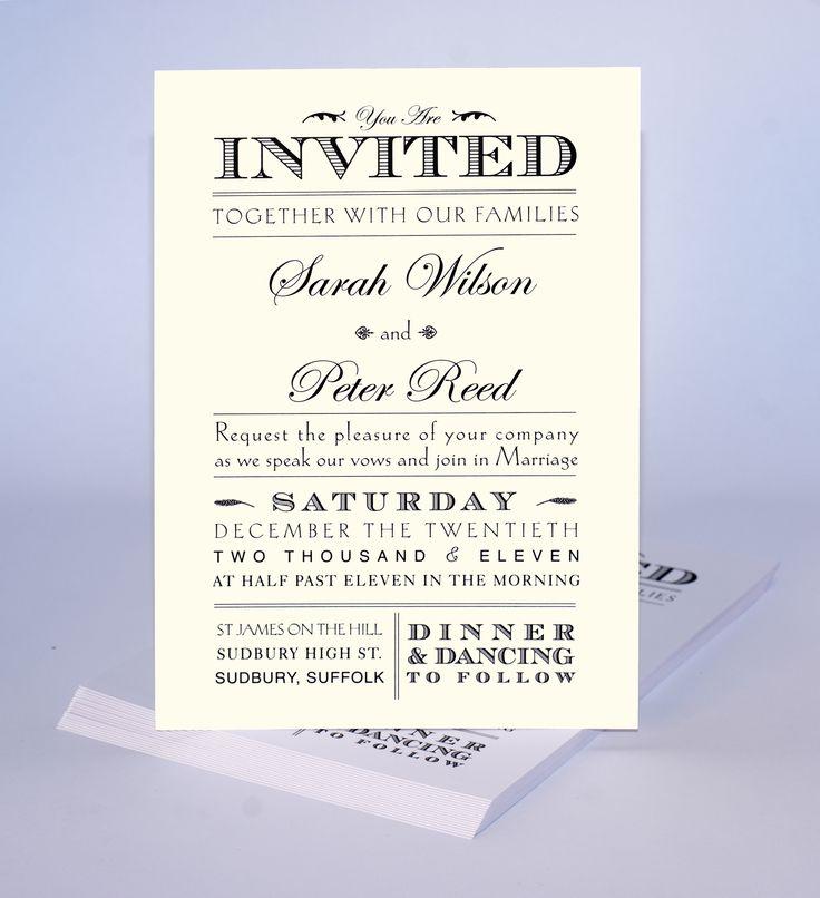 Wedding ideas wedding invite samples for public sample for Most formal wedding invitations