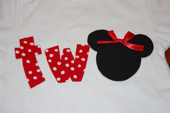 2nd Birthday Minnie Mouse Shirt by TotallyTerrificTUTUS on Etsy, $10.00