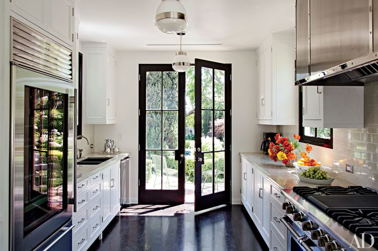 29 French Doors That Provide a Grand Entrance in 2019 | Home ... on basement design, backyard design, hall design, room design, modern design, shower design, staircase design, den design, office design, fireplace design, closet design, bathroom design, apartment design, exterior design, pantry design, bedroom design, interior design, master bath design, tile design, garage design,