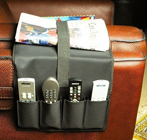 TV Remote Control Caddy Couch Pocket Arm Chair Holder ...
