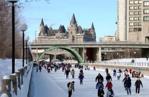 When temperatures dip, Canadians find some pretty cool places to skate.: The Rideau Canal, Ottawa, Ontario