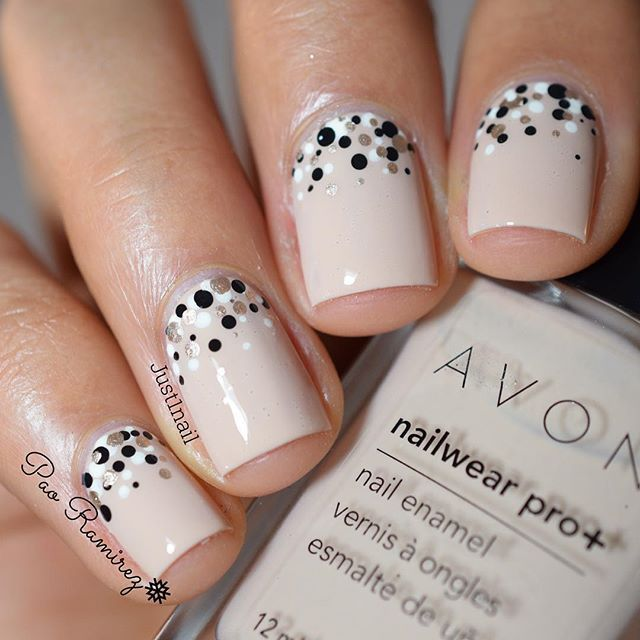 Instagram media by just1nail – Little dot gradient for this gorgeous beige. Surp…