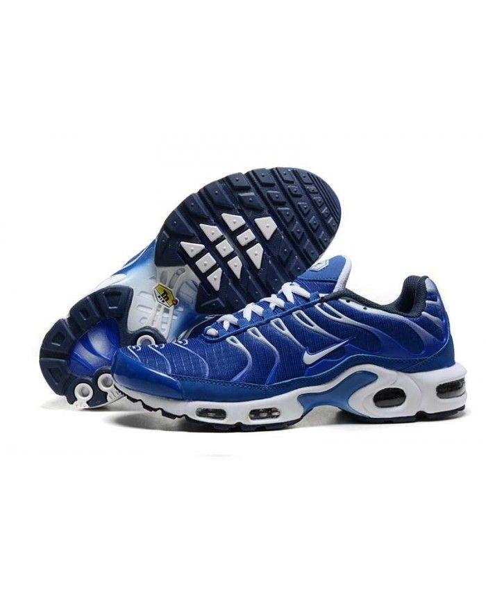 6608eadb2fe Homme Nike Air Max TN Royal Bleu Blanche Chaussures