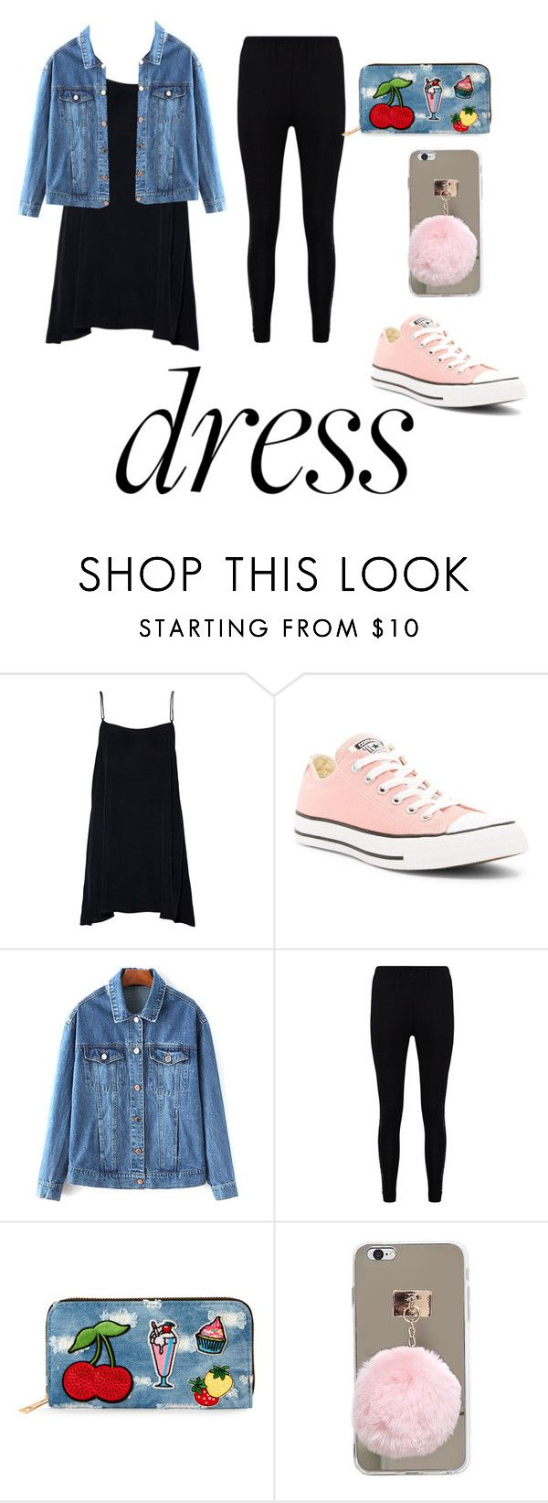 """#Under$100contest🤑"" by ahuvagutnick ❤ liked on Polyvore featuring Converse, Boohoo and Viola"