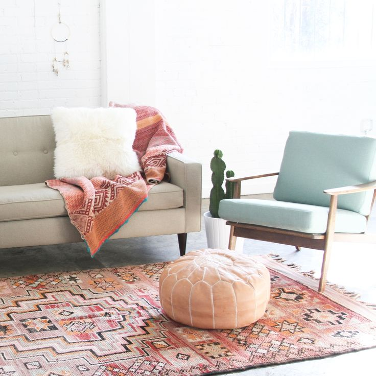 Your New Favorite Bohemian Home Décor Site: Loom + Kiln (Bohemian Modern Living Room)