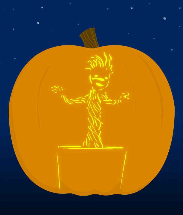 Insanely clever pop culture stencils to up your pumpkin