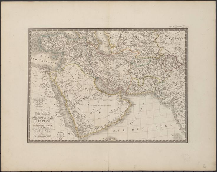 1826 map of the Arabian Peninsula and surrounding areas