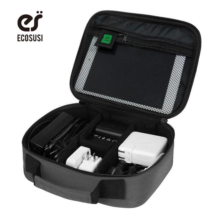 Ecosusi tanggal kabel aksesoris digital menyelesaikan tas tas penyimpanan kabel data charger earphone mp3 usb flash drive tas organizer
