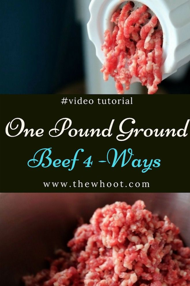 One Pound Ground Beef 4 Recipes Beef Recipes Best Hamburger Recipes Ground Beef