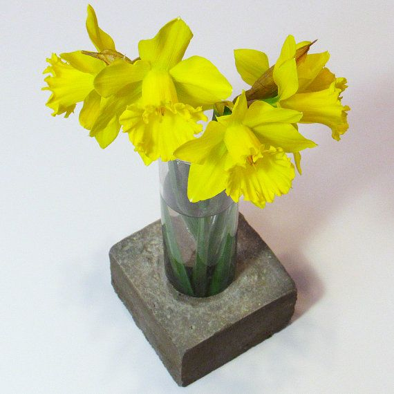 Concrete Vase, Glass Vase, Cement Vase, Flower Vase, Unique Vase, Floral Vase, Industrial Vase, Decorative Vase, Modern Vase, Tall Vase #vase #flowers #homedecor #industrial #industrialdecor #designer #home #gifts #concrete