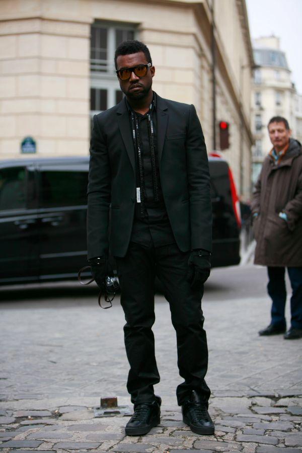kanye west style | Kanye West in All Black Everything