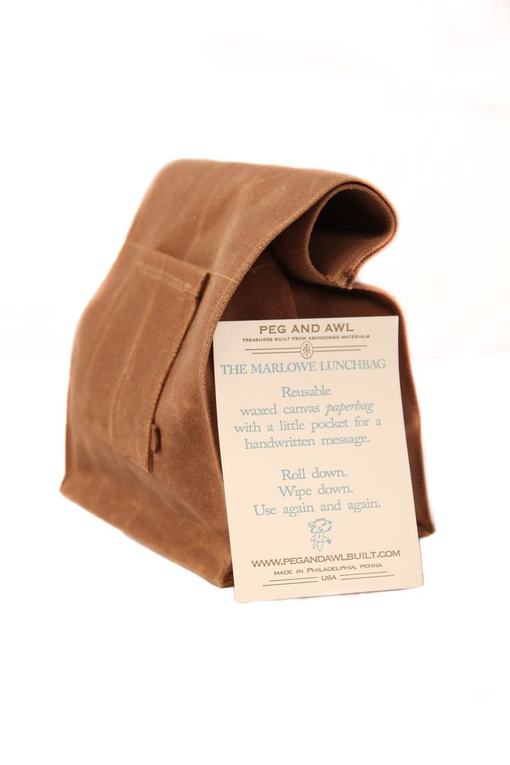 Waxed Canvas Marlowe Lunch Bag - Spice – Peg and Awl