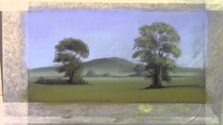 Moody Views summer trees in pastel pencil(2/2)