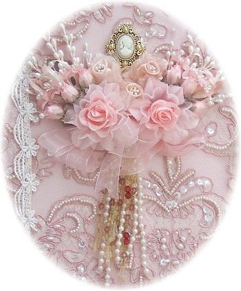 silk ribbon embroidery and roses...