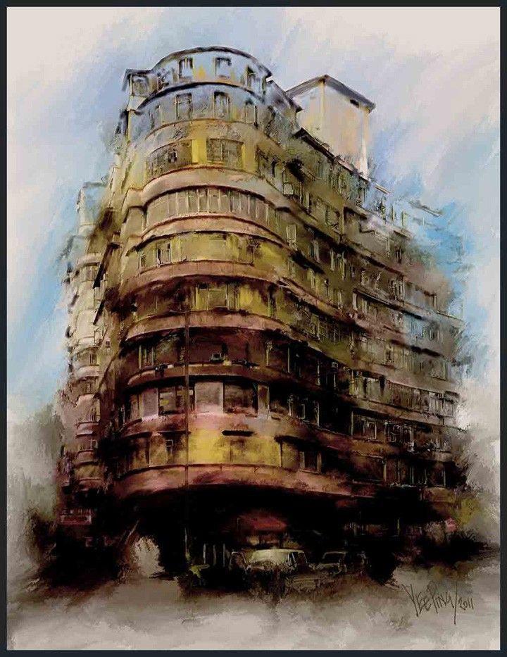 watercolor paintings of old buildings members