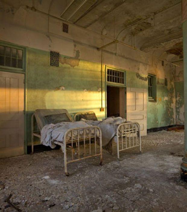 Photo : Le complexe H.H. Richardson (anciennement asile de fous de Buffalo)…