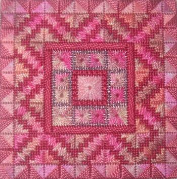 Color Delights-Rose - Needlepoint Pattern