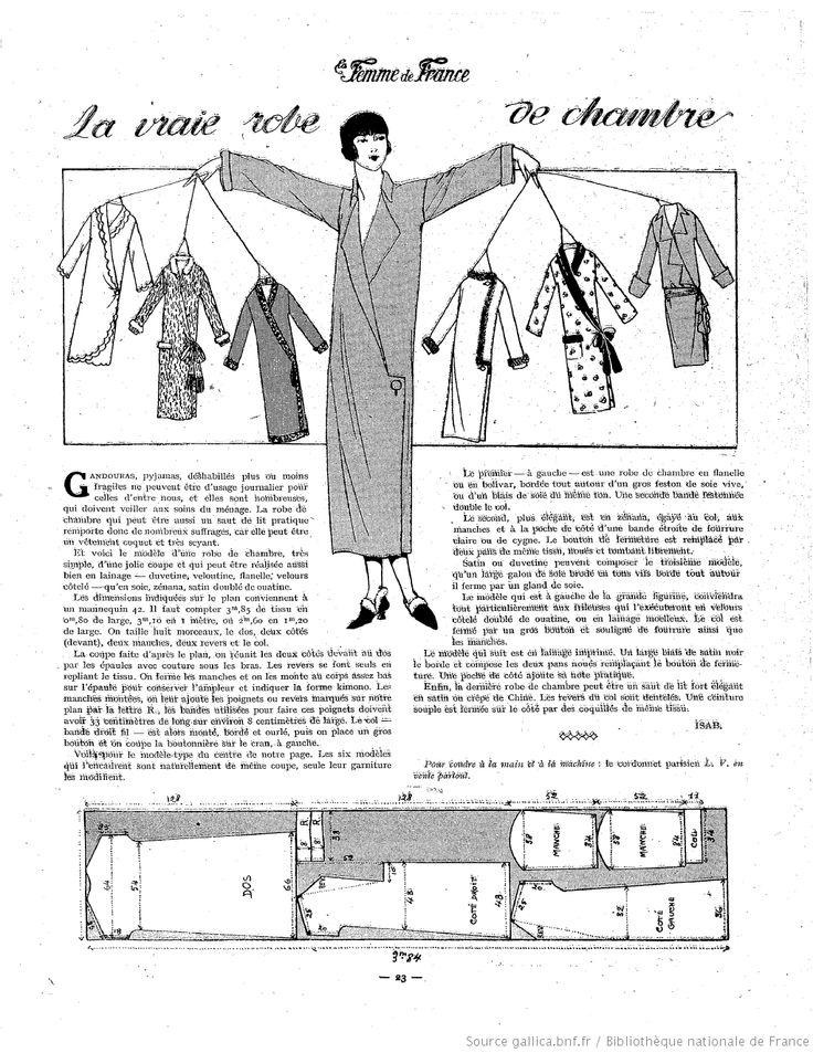 Robe de Chambre (La Femme de France 19/10/1924)