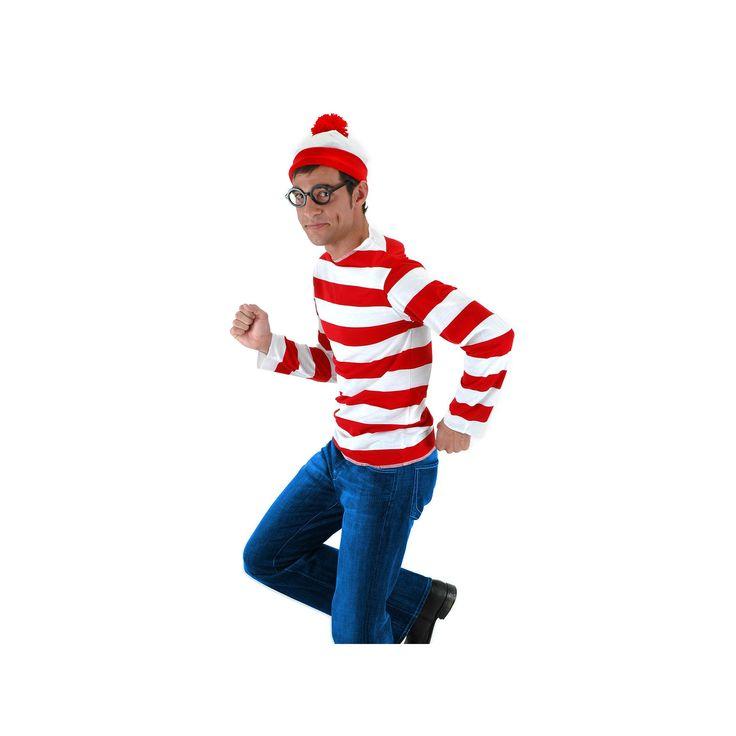 Where's Waldo Costume - Adult, Men's, Multicolor
