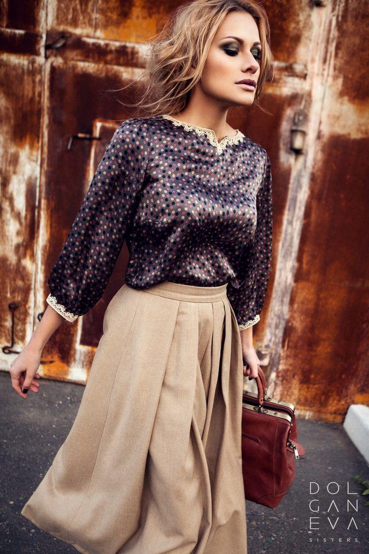 Блуза / шелк 100% Юбка / шерсть 100%. Blouse / skirt 100% silk / wool 100%. Clothing for business woman.