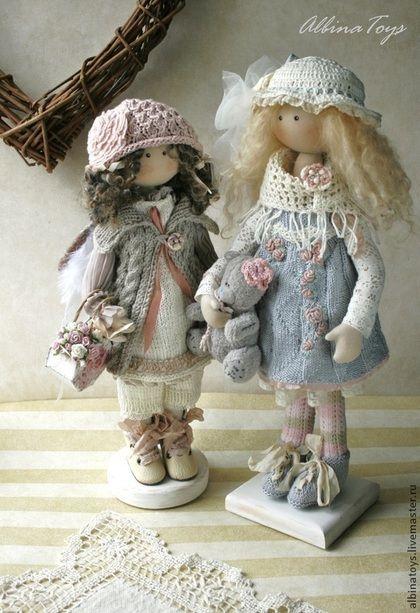 Ангел Тая. Бохо. По мотивам - бежевый,серо-молочный,бледно-розовый,кукла ручной работы