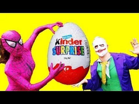 Человек - паук девушка  против Джокера ϟ  Киндер сюрприз кладоискателя с...