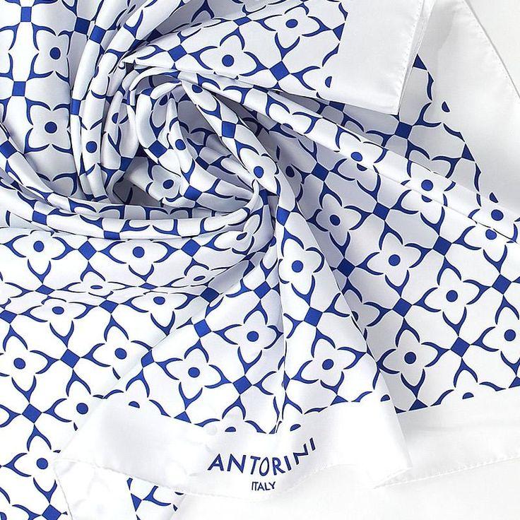 ANTORINI Geometrico Luxury Silk Scarf XIII