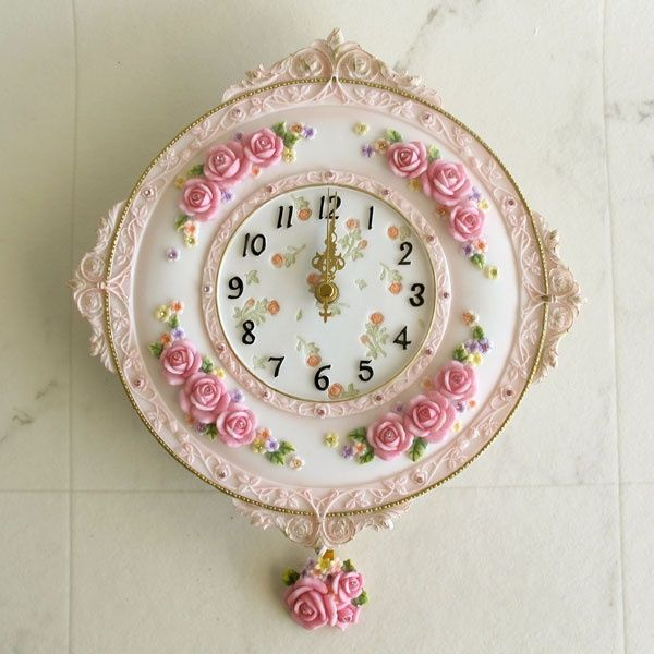 shabby chic clock