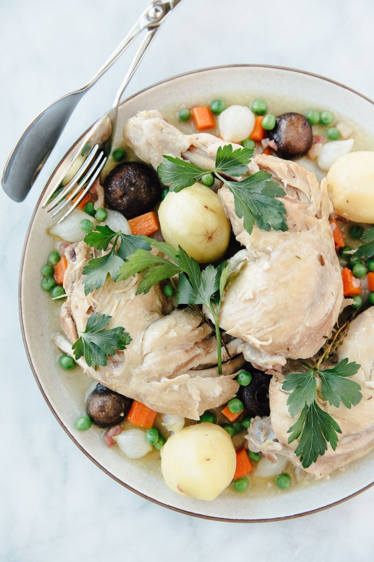 Recipe: Jaques Pépin's Chicken Jardinière — 5 Simple Dinners from Jacques Pépin | The Kitchn